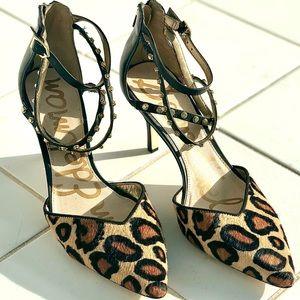 Sam Edelman Women's Orla Leopard Print Heel Pump